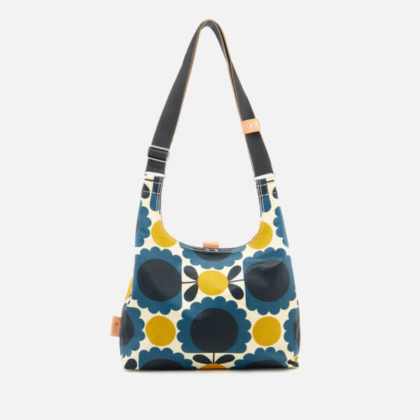 Orla Kiely Women's Laminated Scallop Flower Spot Midi Sling Bag - Denim