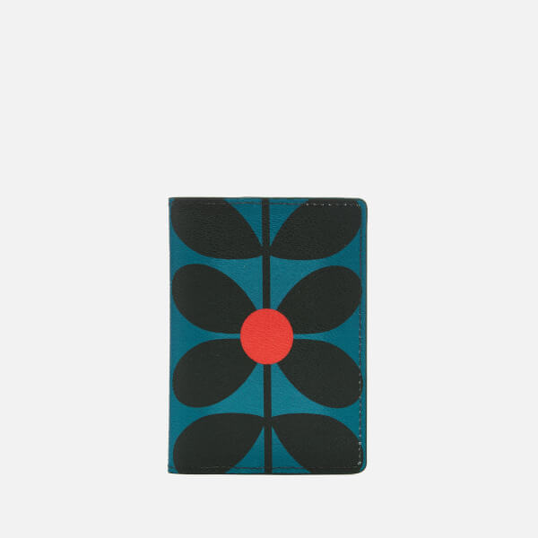 Orla Kiely Women's Sixties Stem Vinyl Travel Passport Cover - Kingfisher