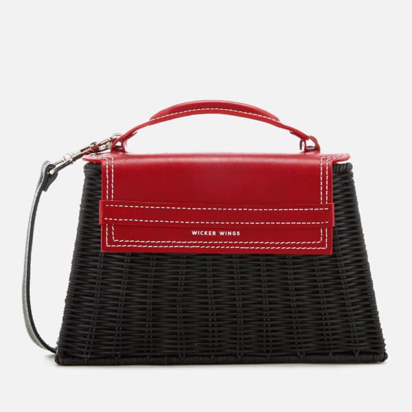 Wicker Wings Women's Marta Wicker Bag - Red/Black