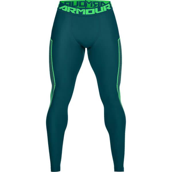 Under Armour Men s HG Armour Graphic Leggings - Green Sports ... 3641e7e245