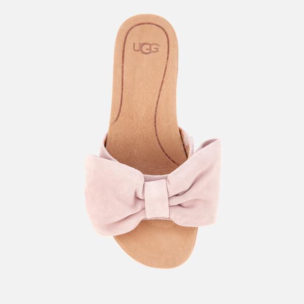 e26d9b445df UGG Women s Joan Suede Bow Flatform Slide Sandals - Seashell Pink  Image 3
