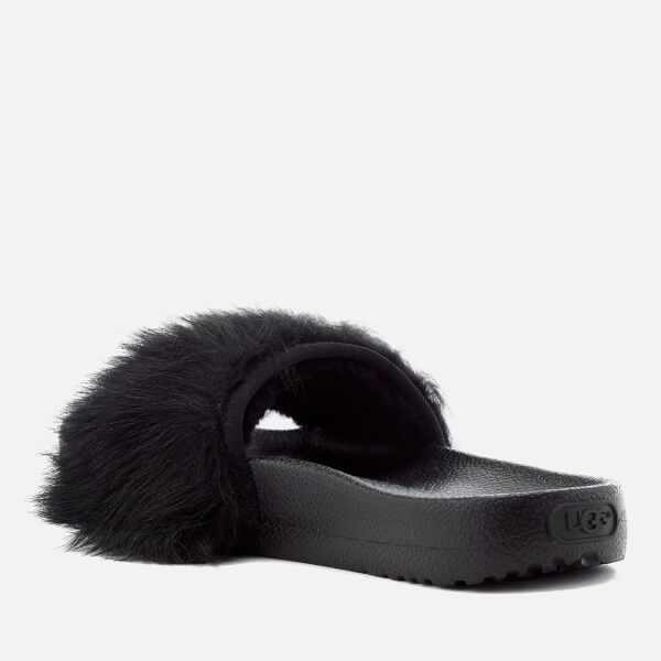 black fluffy uggs