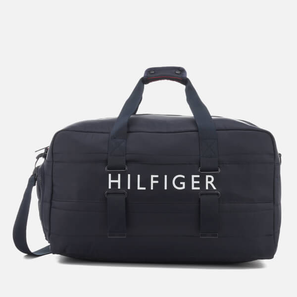 Tommy Hilfiger Men's Light Nylon Duffle Bag - Tommy Navy
