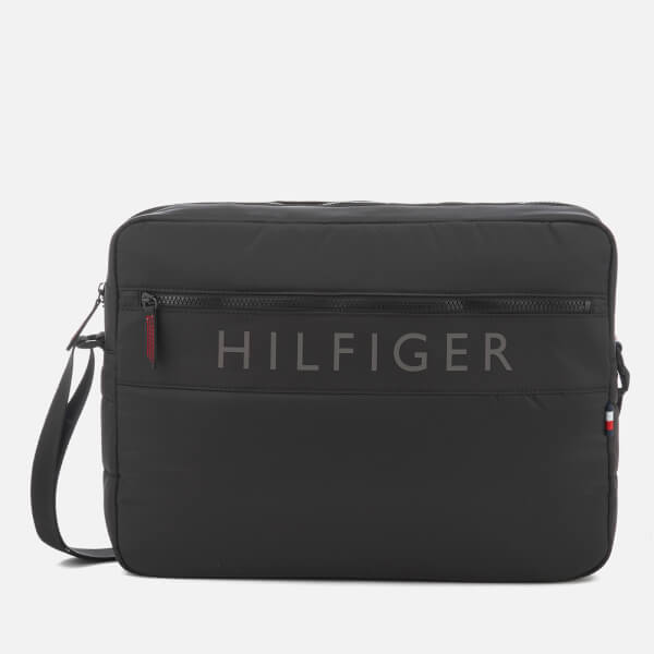 04fde384a3 Tommy Hilfiger Men's Light Nylon Messenger Bag - Black: Image 1