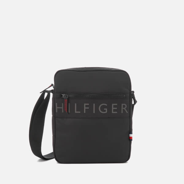 Tommy Hilfiger Men's Light Nylon Reporter Bag - Black