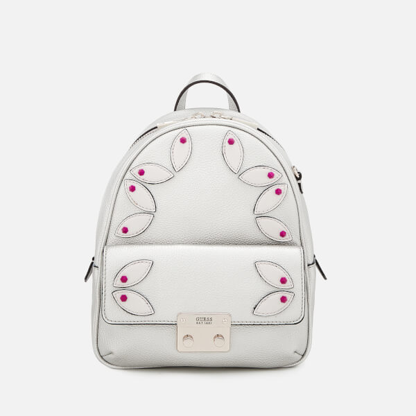 Guess Women's Varsity Pop Small Backpack - Silver