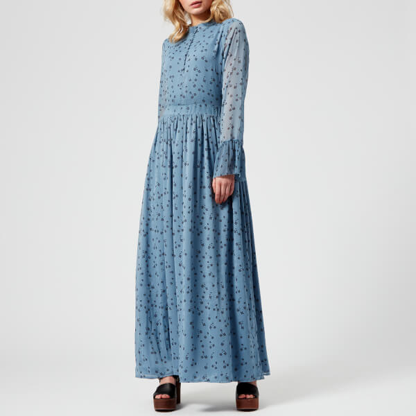 Gestuz Women's Jeanett Long Dress - Blue Flower