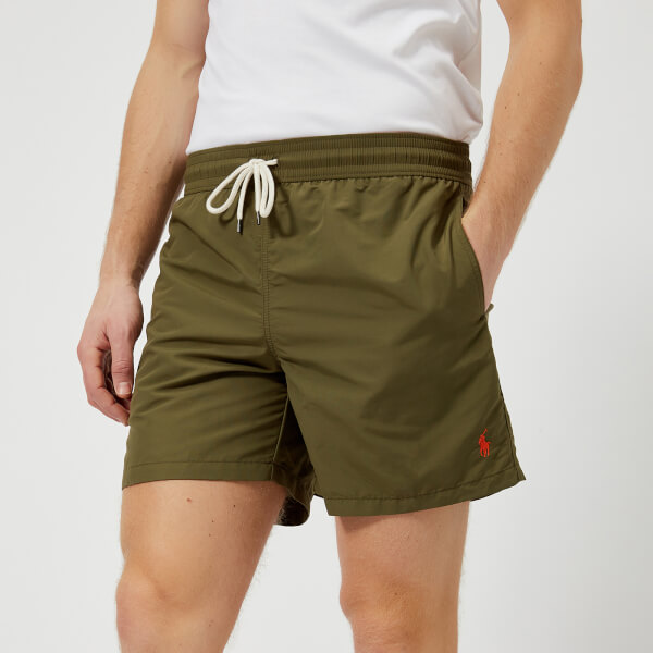 d13e98a3fb ... reduced polo ralph lauren mens traveller swim shorts british olive  image 1 6fb25 8a966