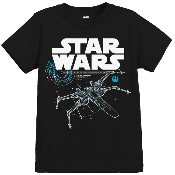 t shirt enfant star wars les derniers jedi x wing noir merchandise. Black Bedroom Furniture Sets. Home Design Ideas