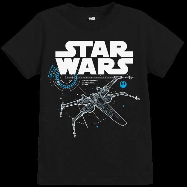 Star Wars The Last Jedi X-Wing Kid's Black T-Shirt