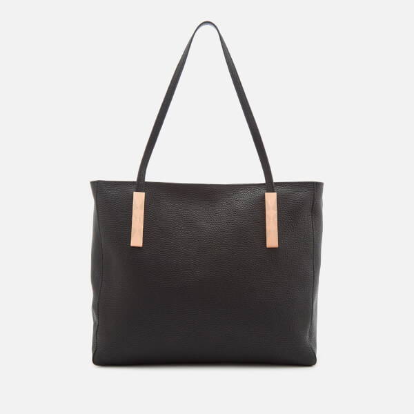 Ted Baker PAIGIE SOFT GRAIN LARGE ZIP TOTE - Handtasche - black