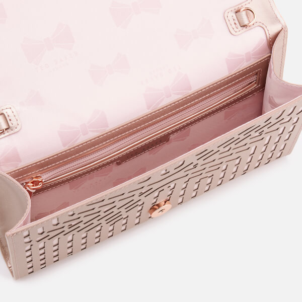 d2f460ce42f Ted Baker Women's Bree Cut Out Bow Clutch Bag - Rose Gold: Image 5