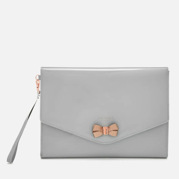 Ted Baker Women's Luanne Bow Envelope Pouch - Mid Grey