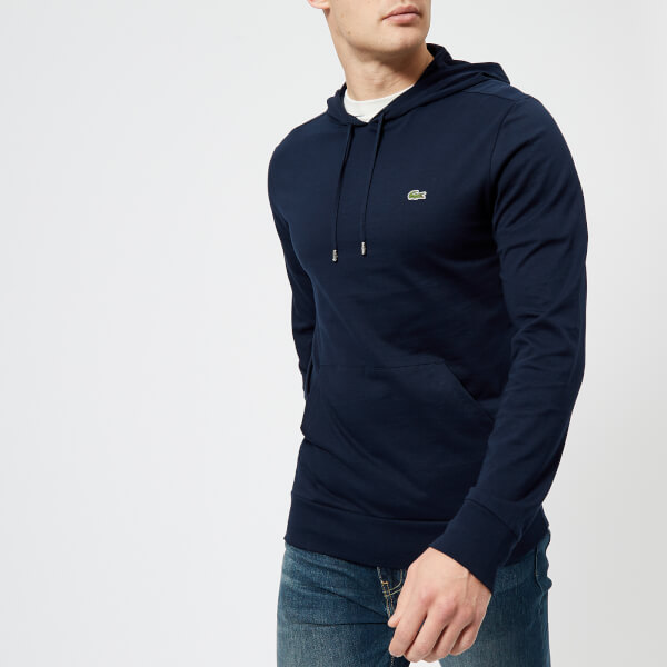315acd8b0ae13 Lacoste Men s Logo Hooded Pima Long Sleeve T-Shirt - Navy - Free UK ...