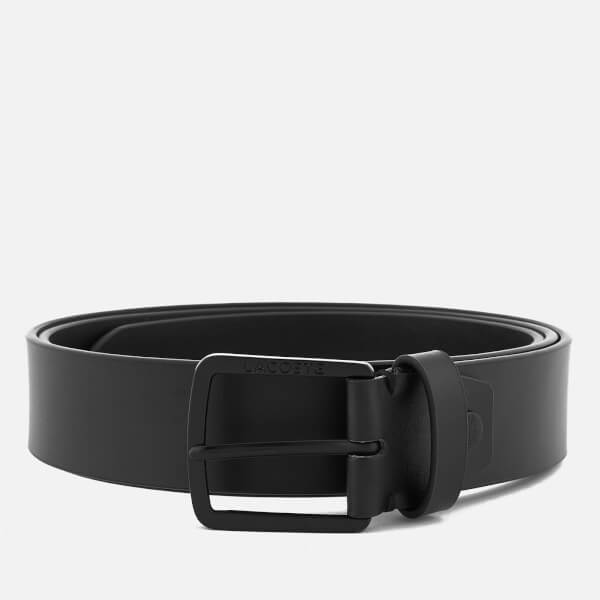 caa1c99f09a9b4 Lacoste Men s Classic Logo Embossed Buckle Belt - 110cm - Black Mens ...