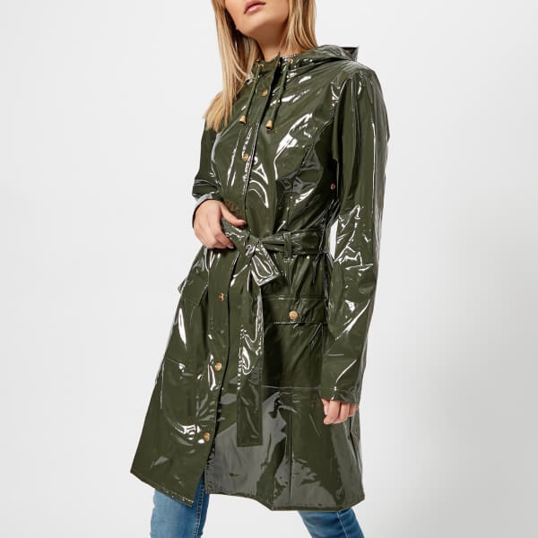 bfd69d41fbb RAINS Women s Curve Jacket - Green Womens Clothing