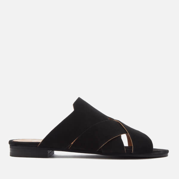 Hudson London Women's Lonatu Suede Slide Sandals - Black