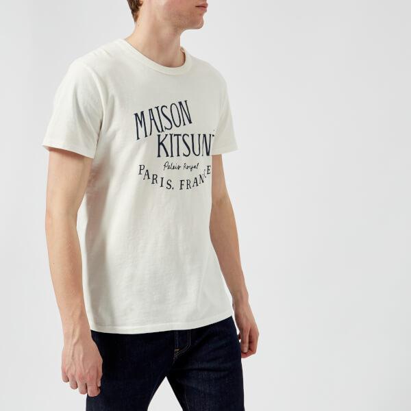Maison Kitsuné Men's Palais Royal Crew Neck T-Shirt - Latte