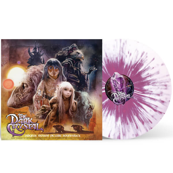 Dark Crystal Vinyl Soundtrack - White with Purple Splatter (Zavvi Exclusive Colour Variant)