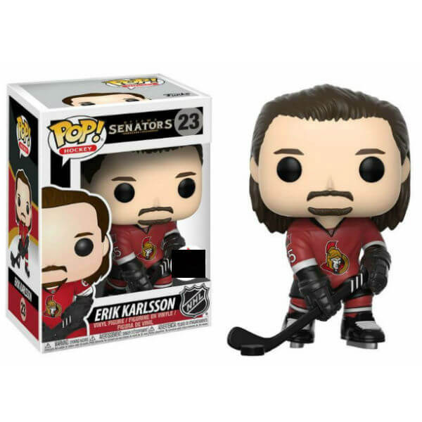 NHL Erik Karlsson Home Jersey EXC Pop! Vinyl Figure