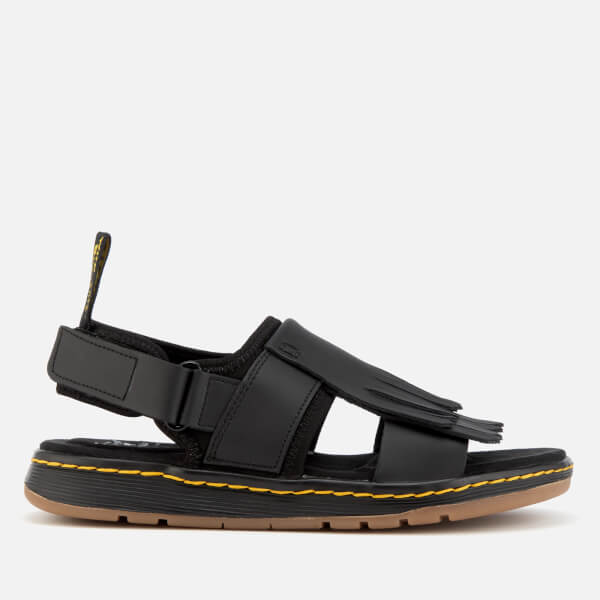 Dr. Martens Women's Rosalind Leather Kiltie Fringe Sandals - Black