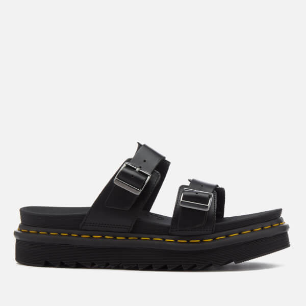 Dr. Martens Men's Myles Brando Leather Double Strap Sandals - - UK 9