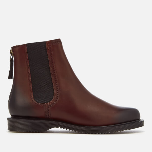 Dr. Martens Women's Zillow Antique Temperley Leather Chelsea Boots - Cherry Red