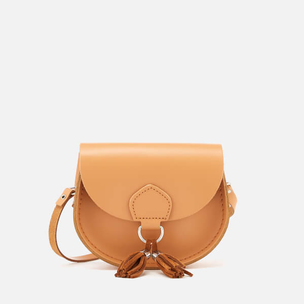 The Cambridge Satchel Company Women's Mini Tassel Bag - Sand Split/Cordovan Suede