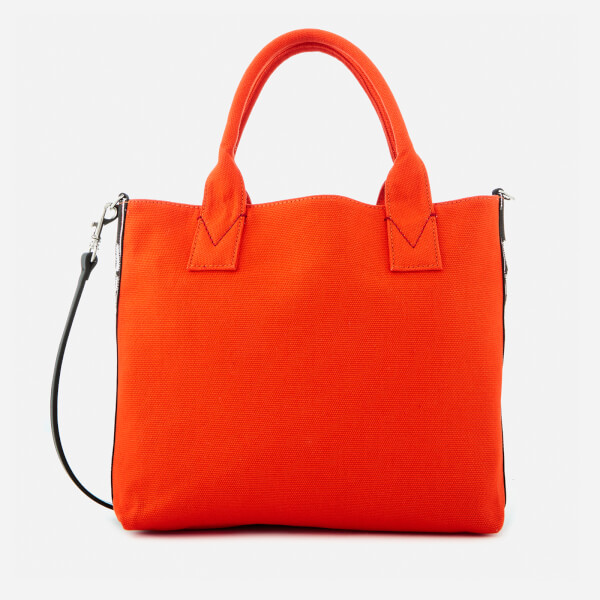 Pinko Women s Abadeco Shopping Tote Bag - Orange  Image 1 6d149e47329