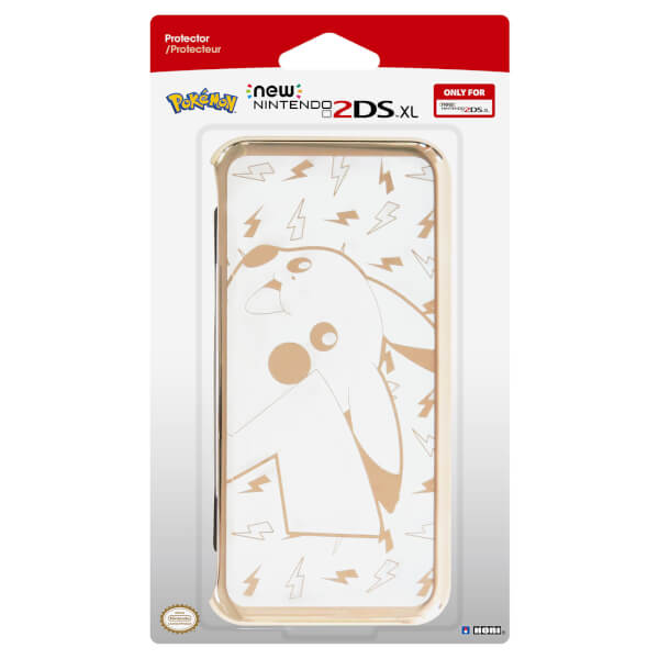 New Nintendo 2DS XL Pikachu Premium Gold Protector