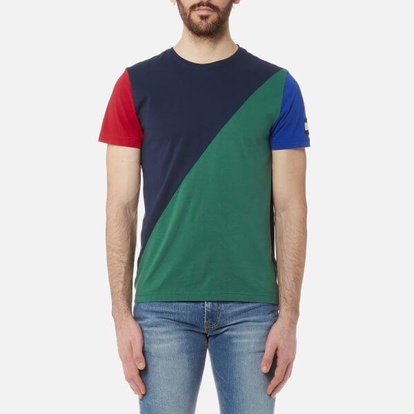 1cb281489d91f Tommy Hilfiger Men s Maddock Colour Block T-Shirt - Navy Blazer  Image 1