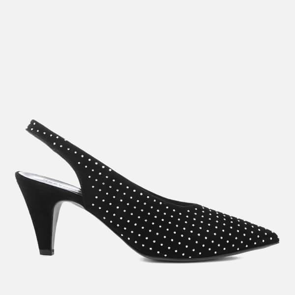 Rebecca Minkoff Women's Simona Studs Suede Sling Back Court Shoes - Black