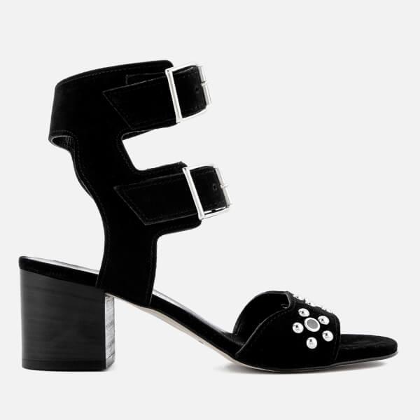 Rebecca Minkoff Women's Sofia Suede Heeled Sandals - Black
