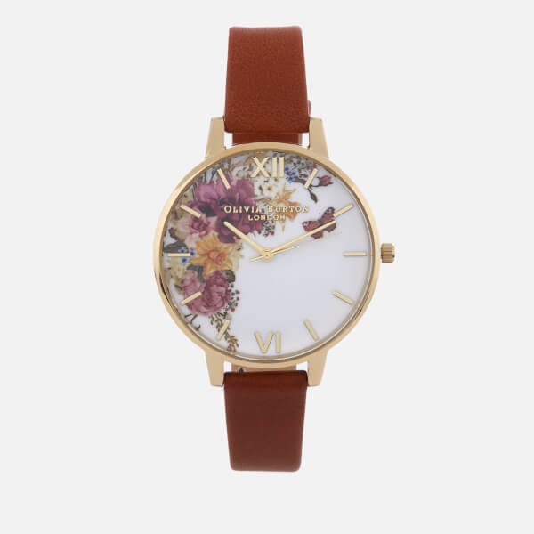 3689d382bb74 Olivia Burton Women s Enchanted Garden Watch - Tan Gold  Image 1
