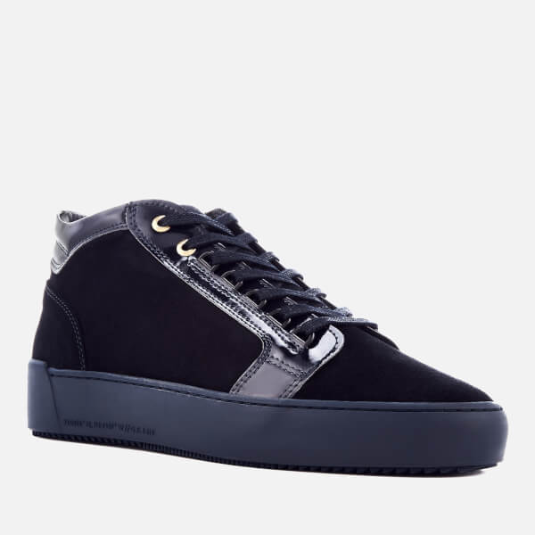 2a7edea1b09 Android Homme Men s Propulsion Mid Suede Patent Trainers - Navy  Image 2