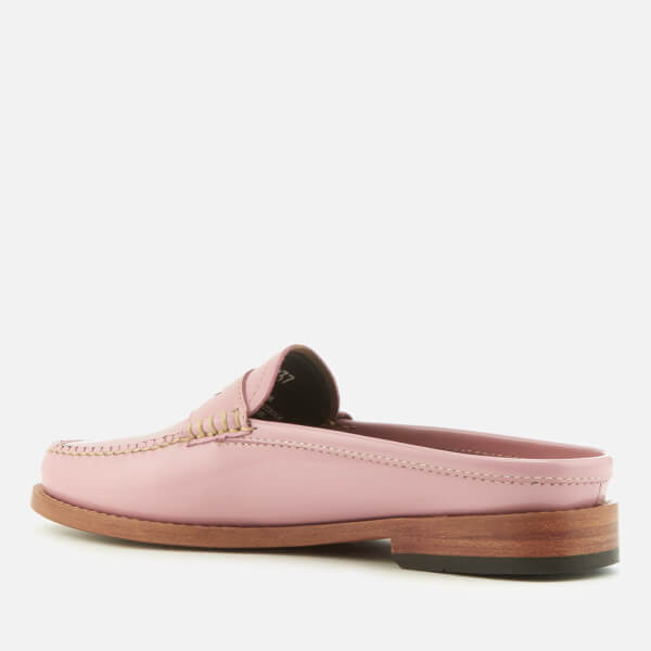 f70b3b816ba Bass Weejuns Women s Penny Slide Wheel Patent Leather Loafers - Bridal Rose   Image 4