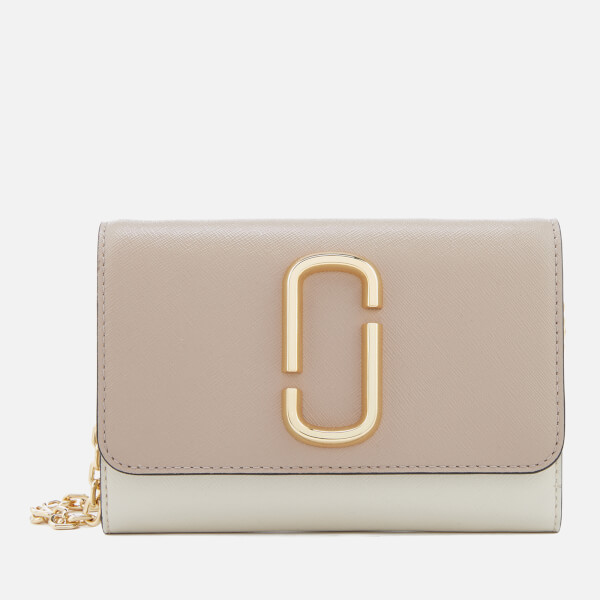 633e4f9a7c93 Marc Jacobs Women s Snapshot Wallet on Chain - Light Slate Multi  Image 1