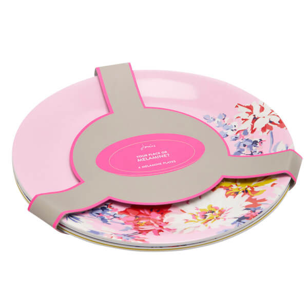 Joules Blaze Melamine Plates - Set of 4 - Whitstable Floral Image 5  sc 1 st  The Hut & Joules Blaze Melamine Plates - Set of 4 - Whitstable Floral Homeware ...
