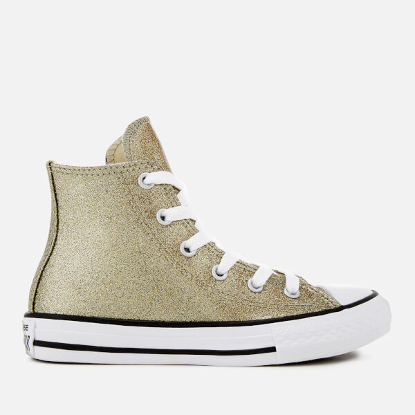 Converse Kids' Chuck Taylor All Star Hi-Top Trainers - Gold/Natural/White