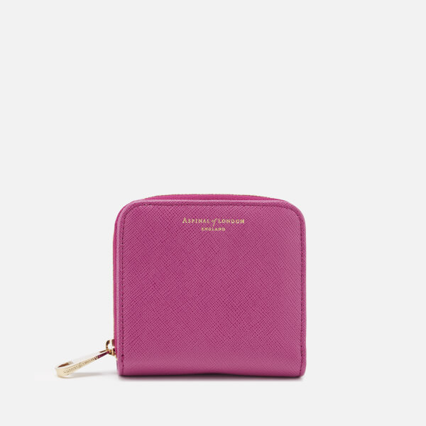 a94cbcbf5edc Aspinal of London Women s Continental Mini Wallet - Orchid  Image 1