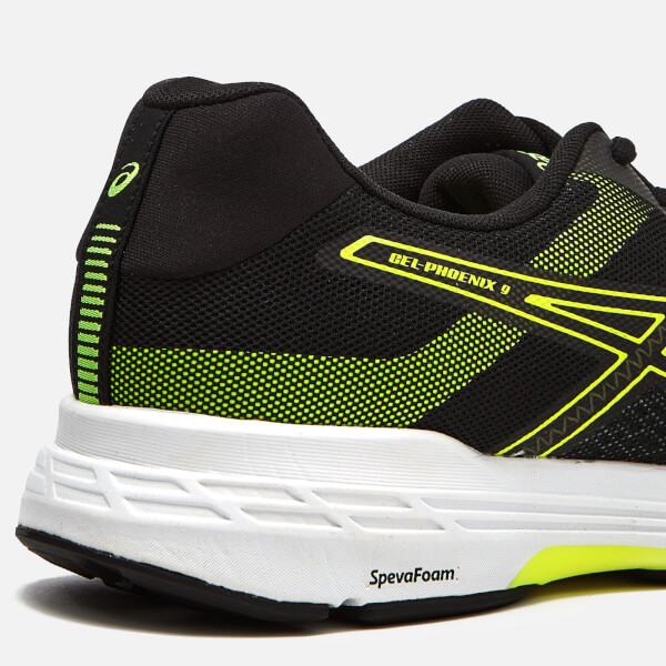 b5a6f445a897 Asics Men s Running Gel-Phoenix 9 Trainers - Stone Grey Black Safety Yellow