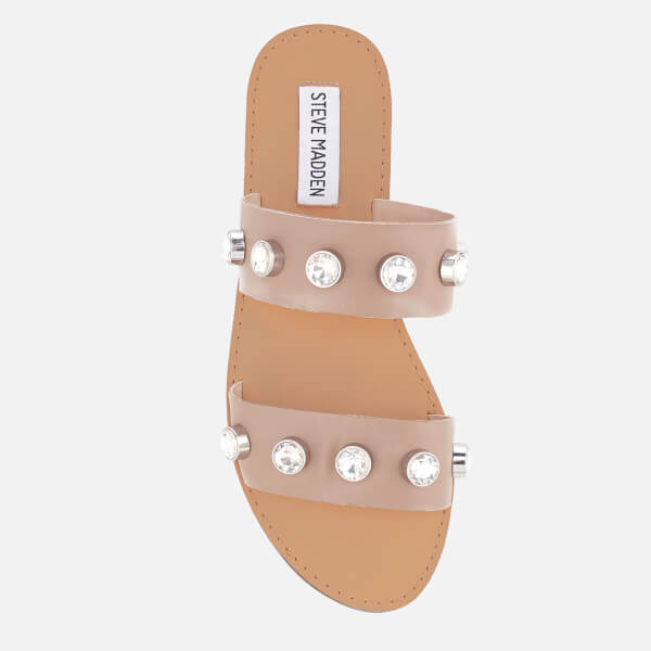 5f24930b8cdf Steve Madden Women s Jessy Leather Double Strap Sandals - Nude  Image 3