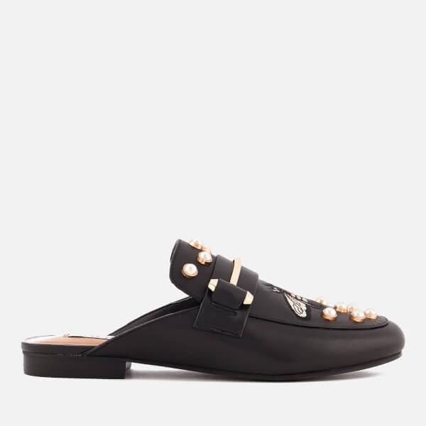 Steve Madden Women's Kera-B Leather Slide Loafers - Black Multi