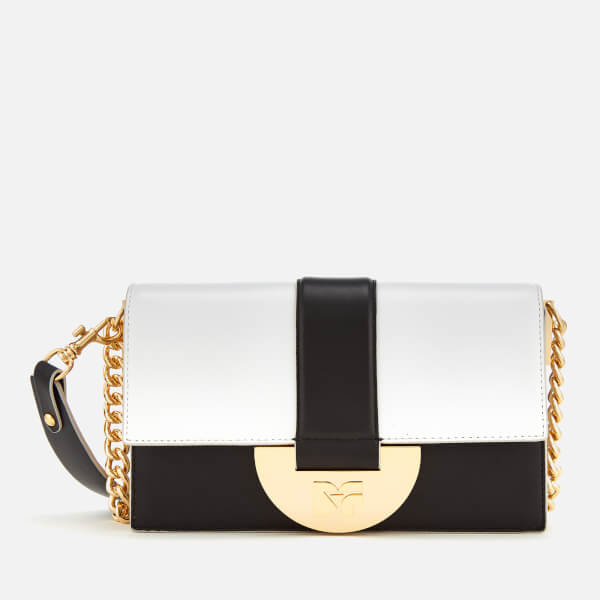 Diane von Furstenberg Women's Bonne Journee Halfmoon Bag - White/Black/Pebble