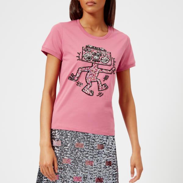 Coach 1941 Women's Coach X Keith Haring Embellished T-Shirt - Fuchsia