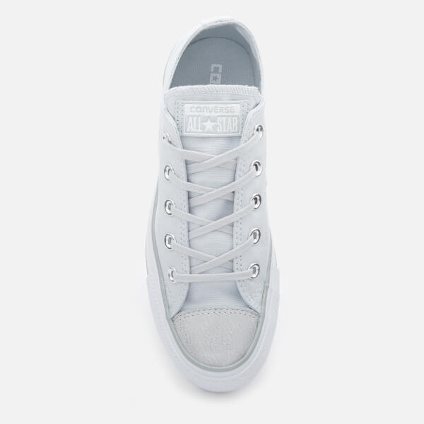 f6fc8d38c05 Converse Women s Chuck Taylor All Star Ox Trainers - Pure Platinum  Silver White