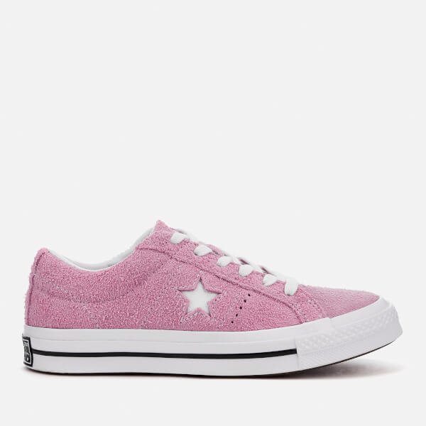 Converse One Star Ox Trainers - Light Orchid White Black  Image 1 eba6aed08