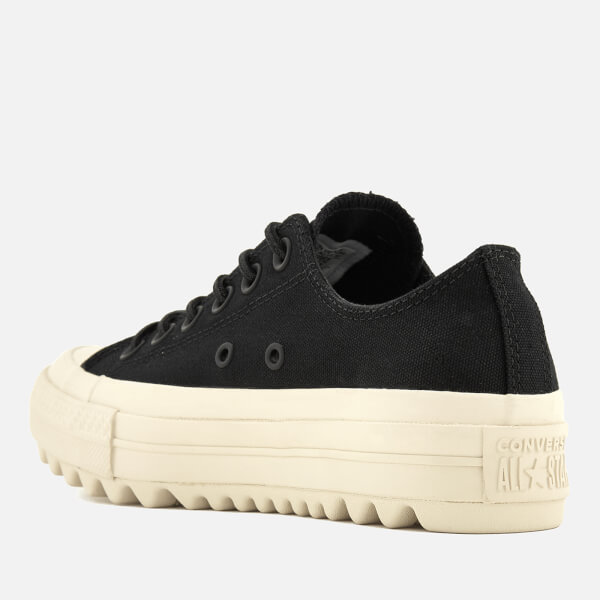 51a08f4df71 Converse Women s Chuck Taylor All Star Lift Ripple Ox Trainers -  Black Natural  Image