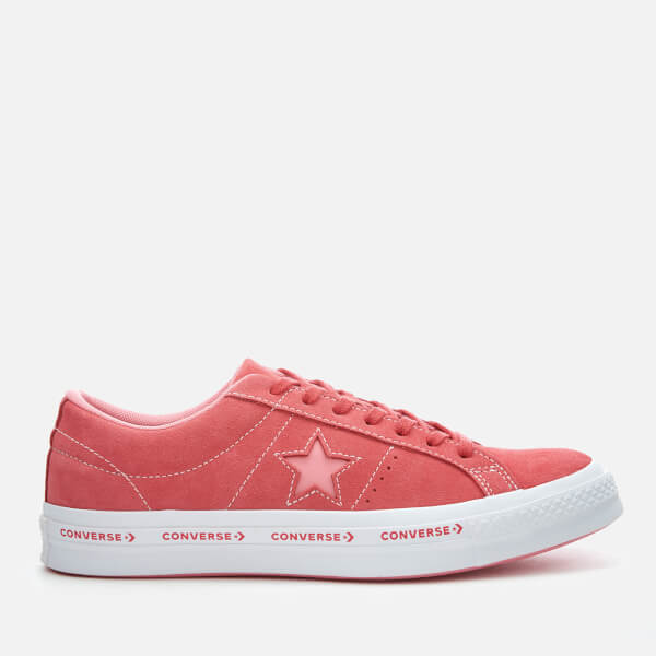 Converse One Star Ox Trainers - Paradise Pink Geranium Pink White  Image 1 6fa466b69