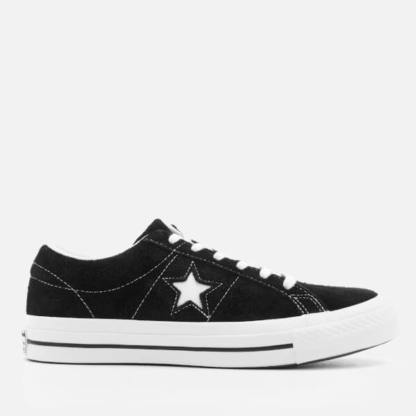 One Star Ox Trainers In Black - Black Converse